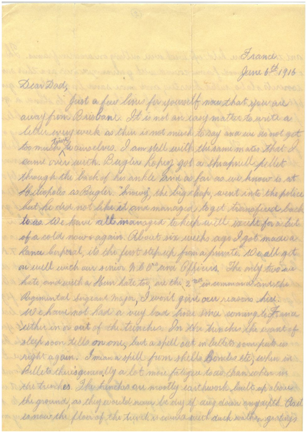From the Archives: Letters from France
